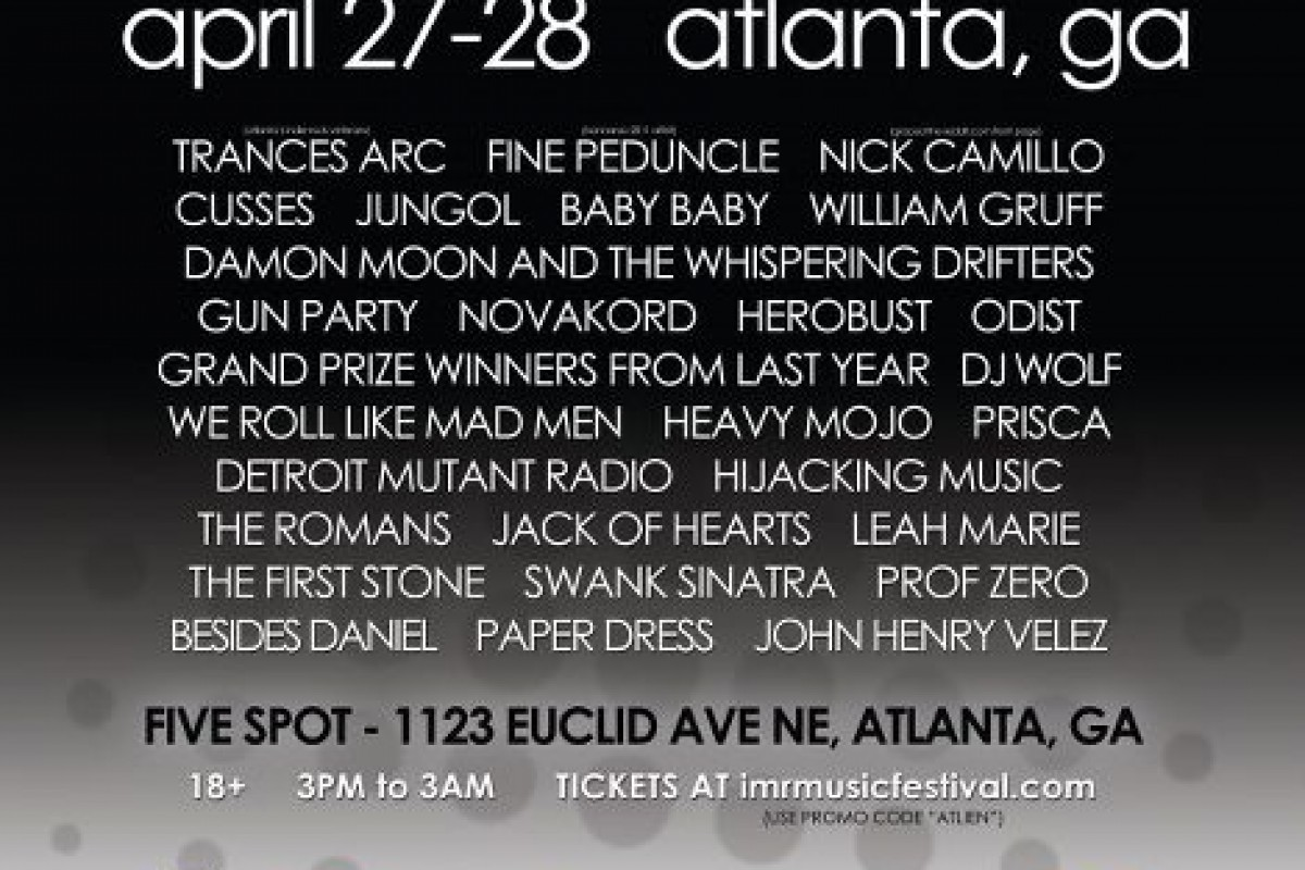 GET TICKETS FOR THIS WEEKEND:The Official Unofficial Video Playlist for the Indie Music Review Festival in Atlanta this month…April 27th and 28th at the 5 Spot