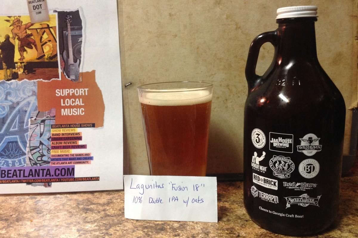 Beer Review: Fusion 18 from Lagunitas Brewing Company (Petaluma, California)