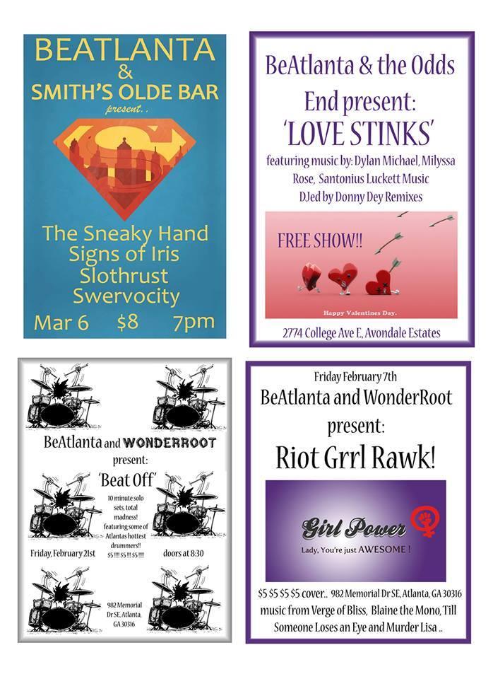 [flyer] BA four shows Feb 2014