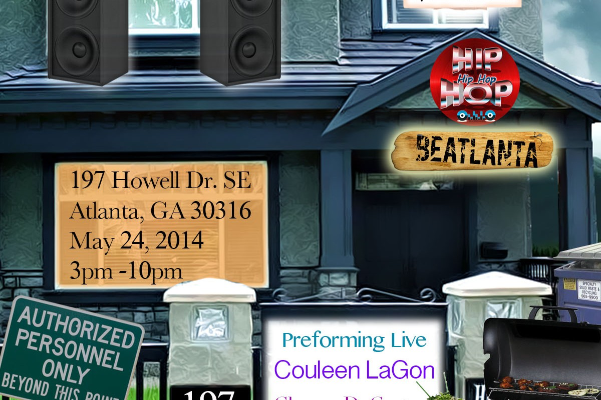 A Beatlanta House Show + BBQ + KEGS: Featuring Myk G Mr 16 Bars + Couleen LaGon + Champ DeGrate (5.24.14)