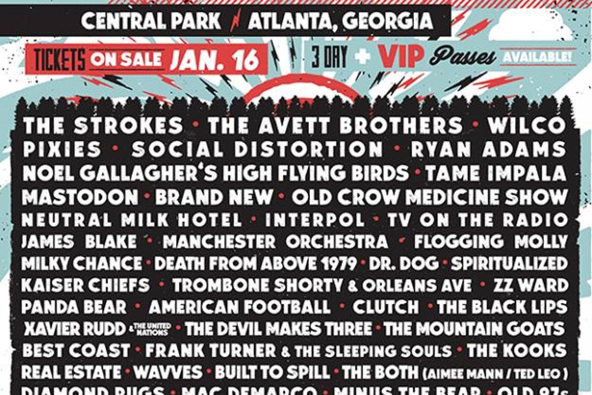 Shaky Knees Music Festival, Atlanta, GA  May 8th-10 2015 – LINEUP & DAY SCHEDULE OUT NOW