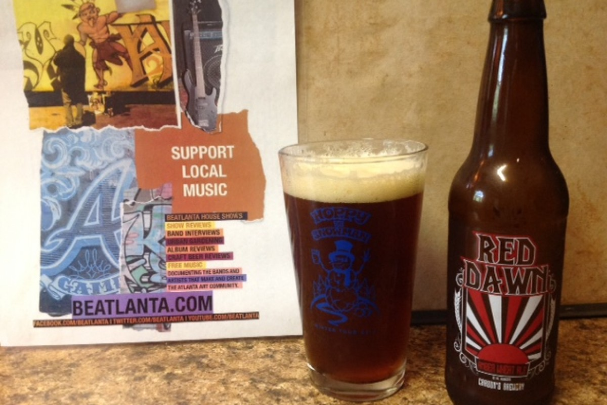 BEER REVIEW :: #beerAtlanta :: Red Dawn Amber Wheat Ale from Carson's Brewery (IN)