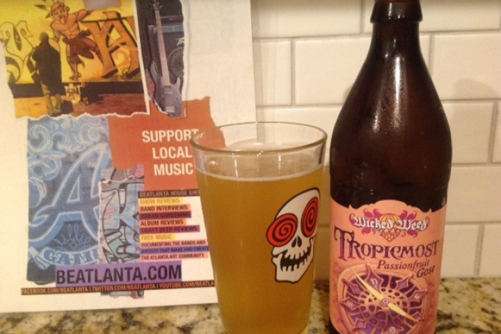 BEER REVIEW :: Tropicmost Passionfruit Gose from Wicked Weed Brewing (Ashville, NC) #beerAtlanta