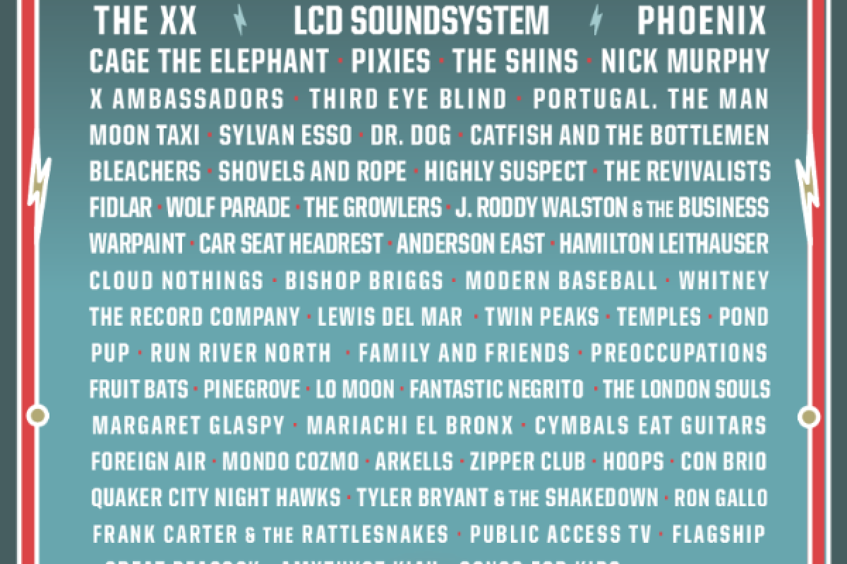 SHAKY KNEES 2017 :: LINEUP OUT NOW!  The XX, LCD Soundsystem, Pixies and More