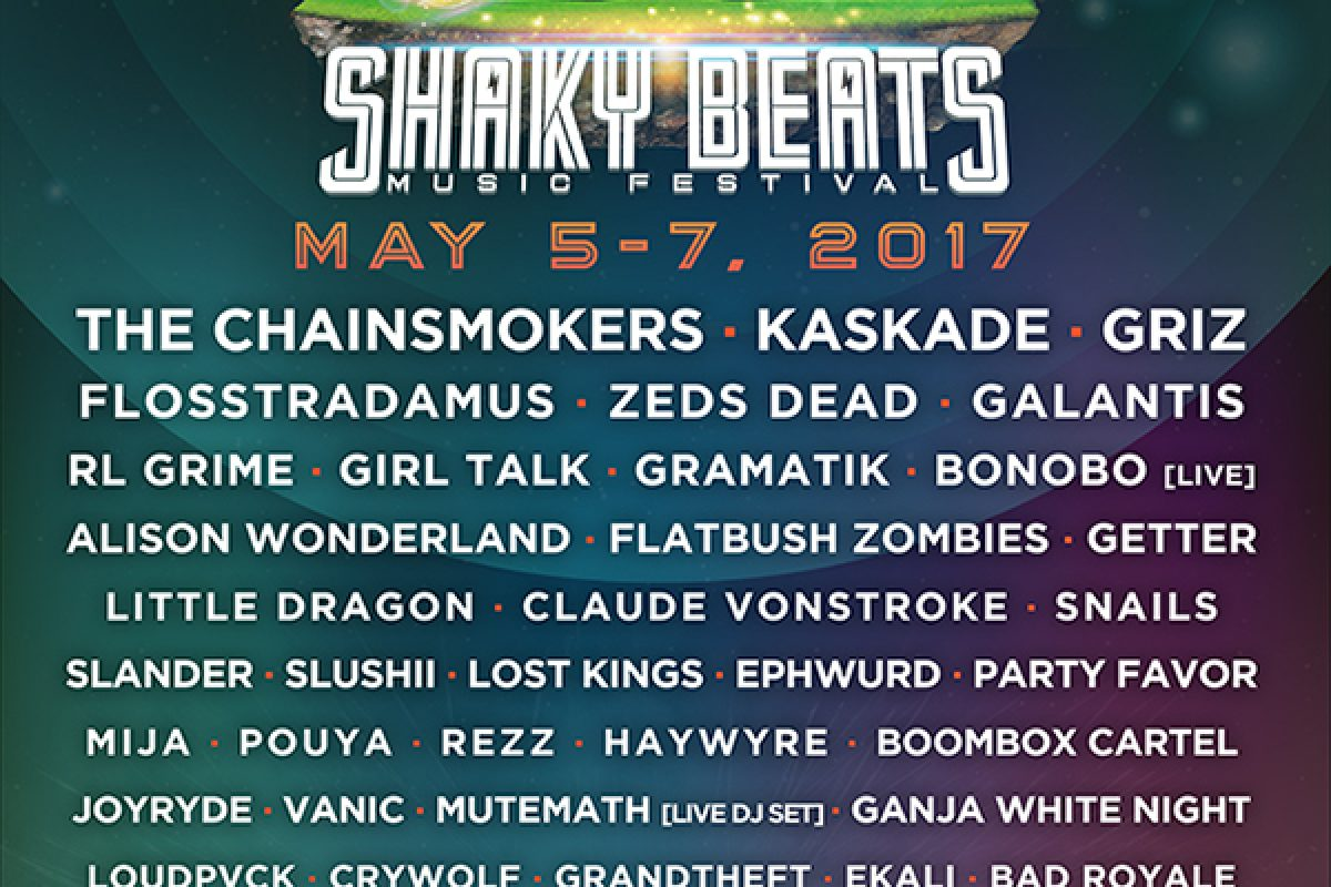 Shaky Beats 2017 Lineup OUT NOW!