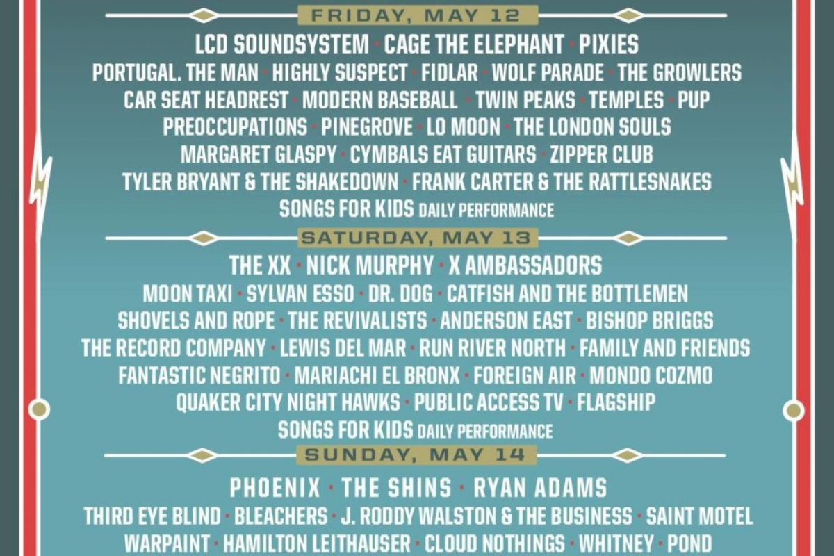 Shaky Knees 2017 – May 12th-14th at Centennial Park