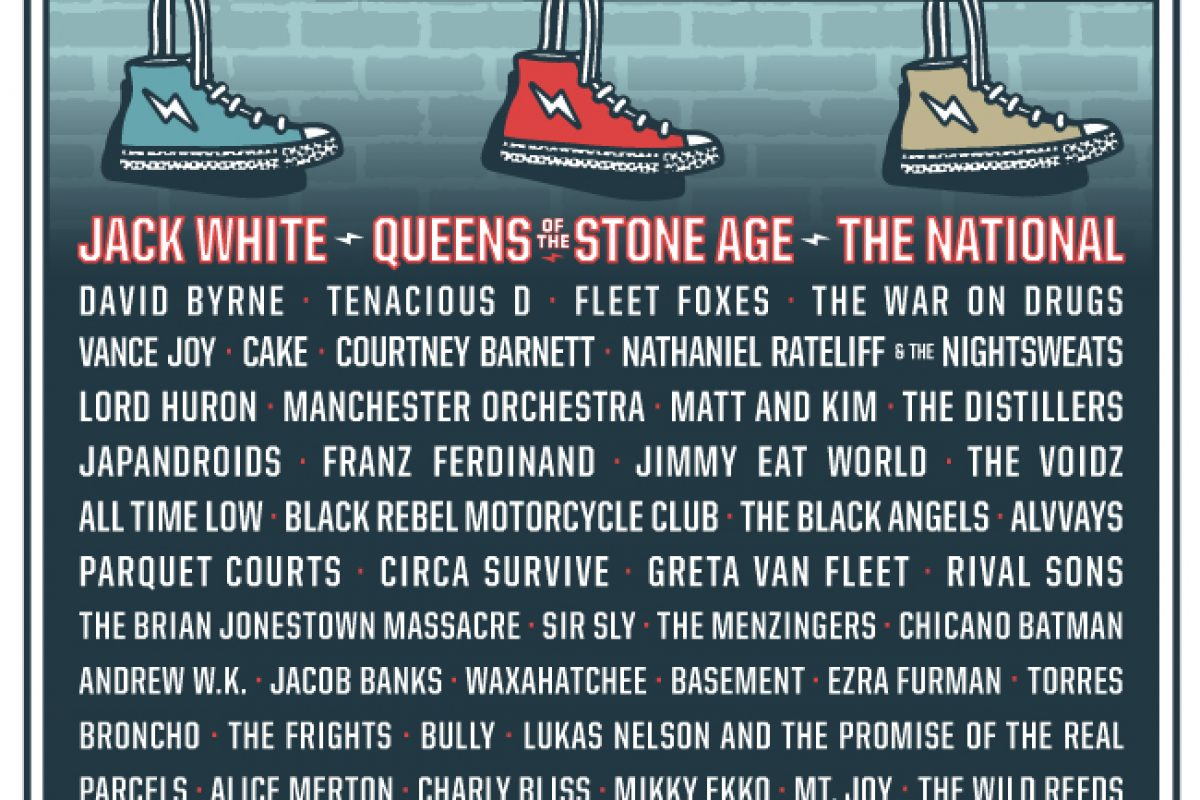 SHAKY KNEES 2018 – LINEUP OUT NOW – JACK WHITE, THE NATIONAL, QUEENS OF THE STONE AGE, DAVID BYRNE AND MORE