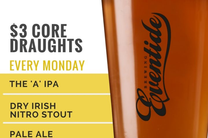 #beerAtlanta :: $3 Core Mondays at Eventide Brewery – beer pints for only $3