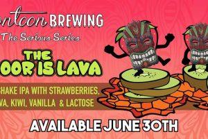 """#beerAtlanta :: new beer from Sandy Springs' Pontoon Brewing – """"The Floor is Lava"""" – release party SAT 6.30.18"""