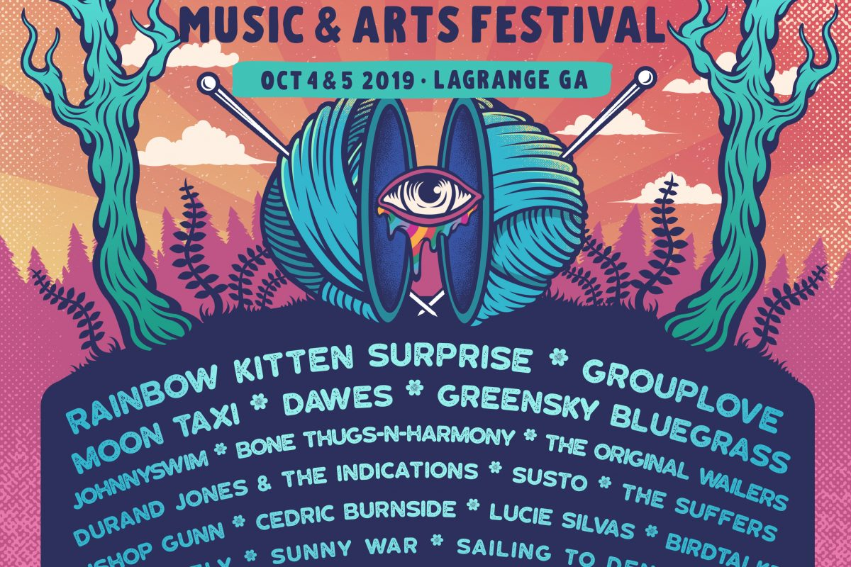 Inaugural Rockweave Festival in LaGrange, GA – 10/4 and 10/5 – Rainbow Kitten Surprise, Grouplove, Moon Taxi, Bone Thugs N Harmony, Dawes and many more