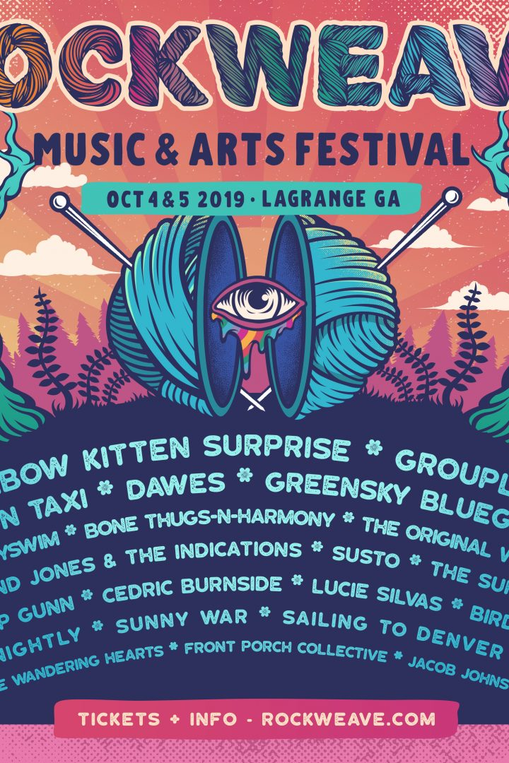 Inaugural Rockweave Festival in LaGrage, GA – 10/4 and 10/5 – Rainbow Kitten Surprise, Grouplove, Moon Taxi, Bone Thugs N Harmony, Dawes and many more