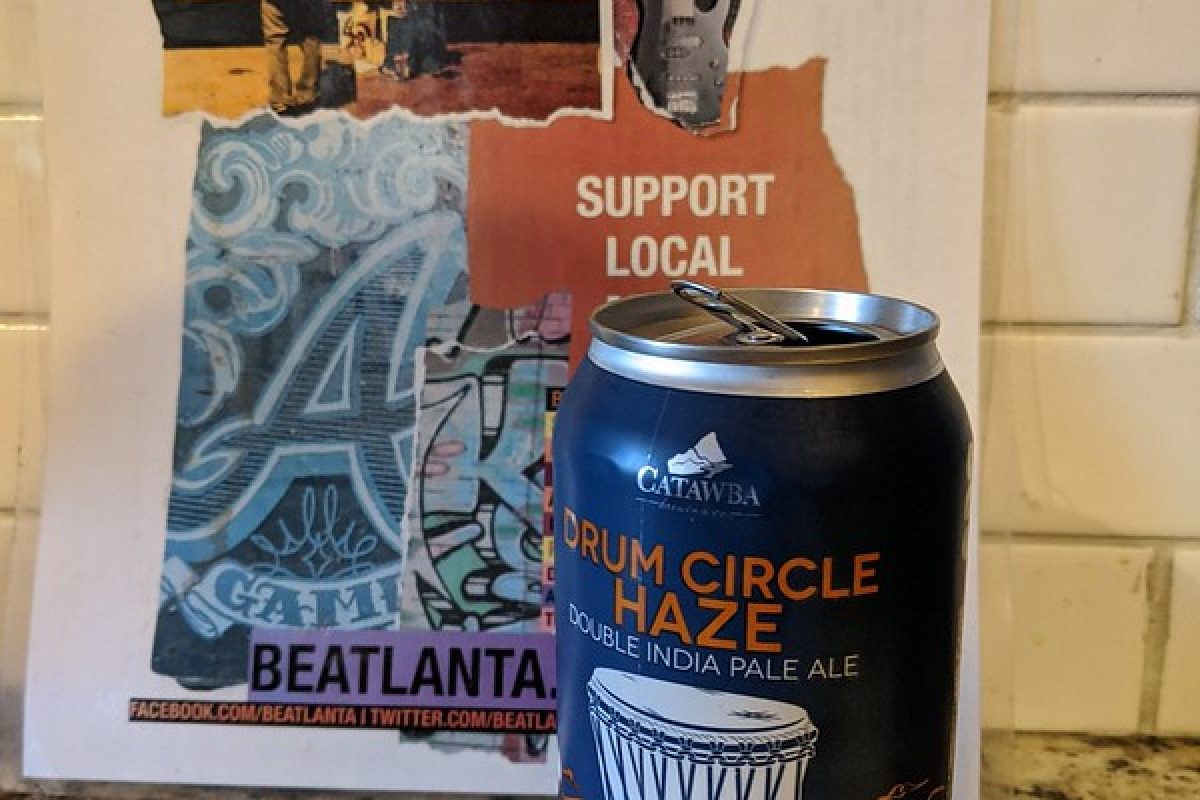 #beerAtlanta :: 'Drum Circle Haze' double IPA from Catawba Brewery (NC)