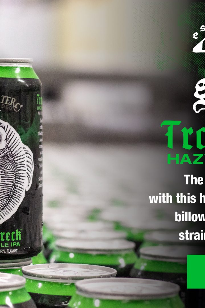 #beerAtlanta :: New beer from Sweetwater Brewery :: Trainwreck Hazy Double IPA from the 420 Hops Strain